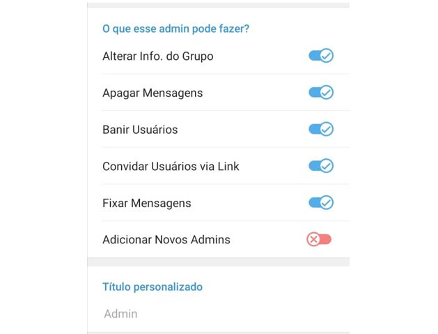Administadores - Telegram